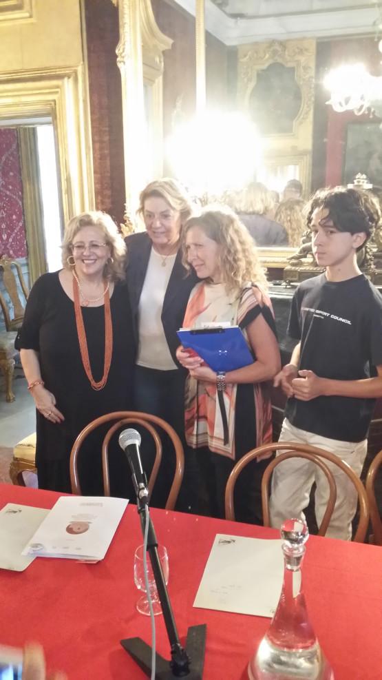 Da sinistra, Sara Favarò, Caterina Chinnici, Rosanna Maranto ed Emanuele  Armando Corona