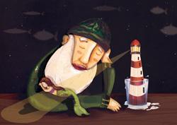 Una notte, un pescatore il faro e la sua Sirena Giuliana Marigliano - th
